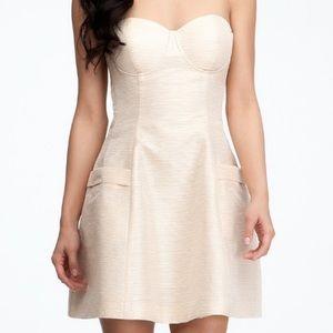 Bebe strapless w/ pockets dome bustier dress. 🌹